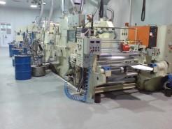 Machine for lacquering of aluminum foil